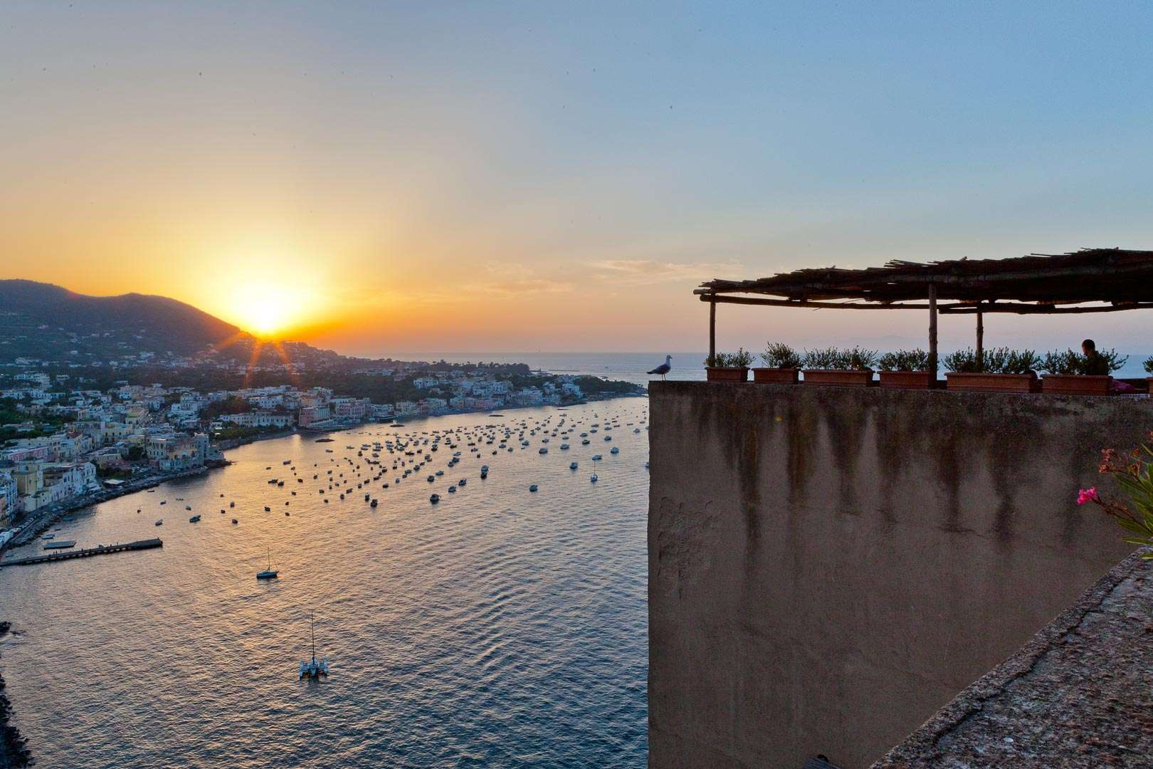 The Terrace Albergo Il Monastero Castello Aragonese Ischia